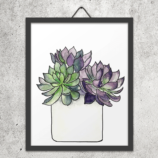 Succulent Potted Plant - Digital Download