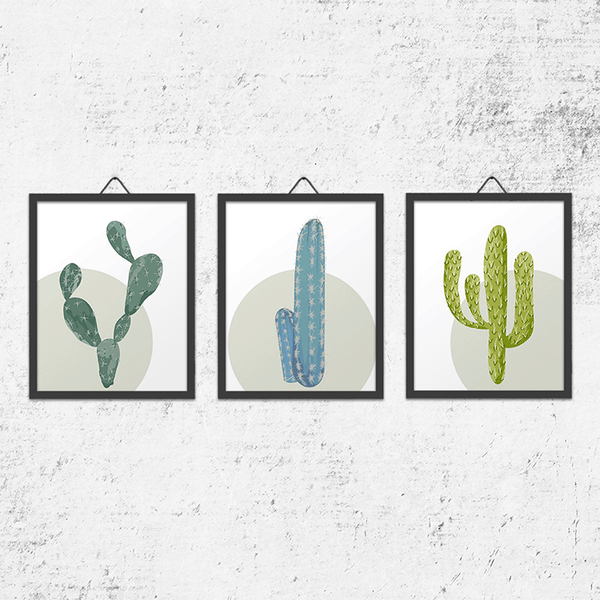 Set of 3 Cacti Wall Art Prints