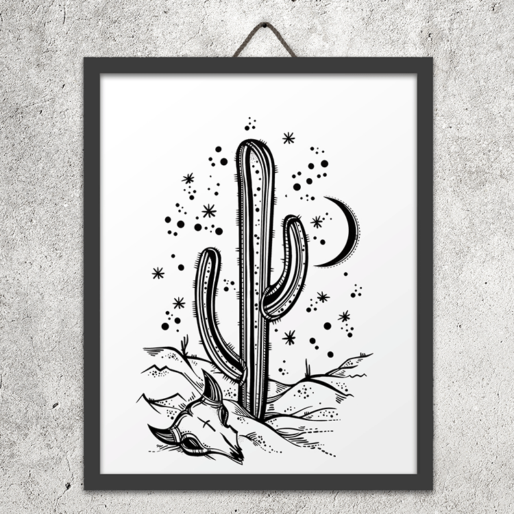 Desert Night Wall Art Print