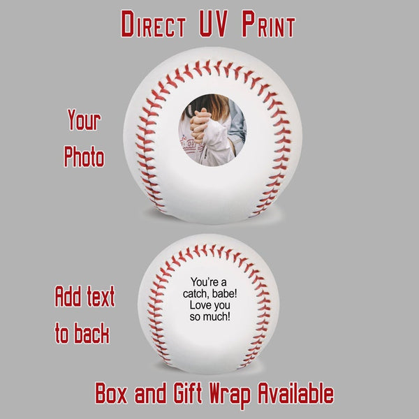 Custom Photo + Text Baseball