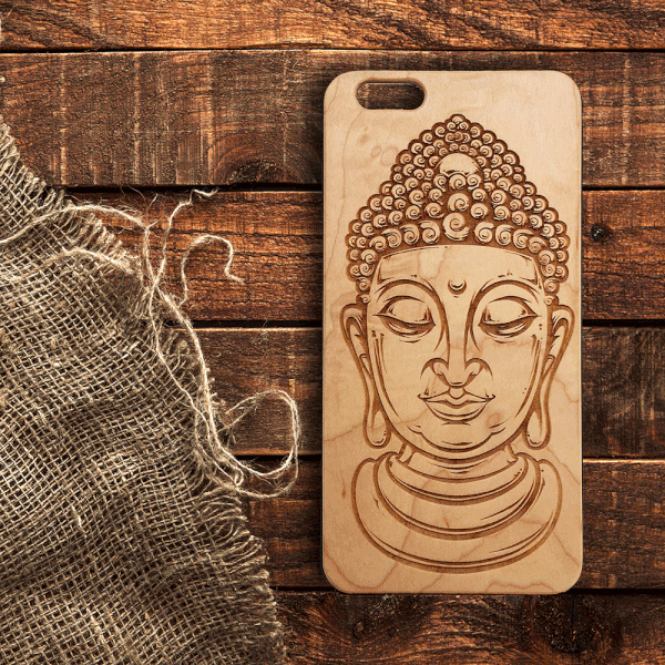 Buddha Wood iPhone and Galaxy Case