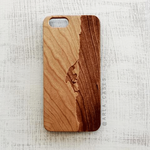 Rock Climber Wood iPhone and Galaxy Phone Case