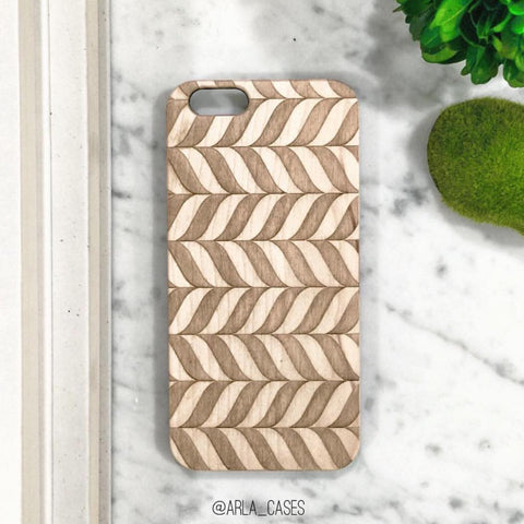 Chevron Wood Phone Case