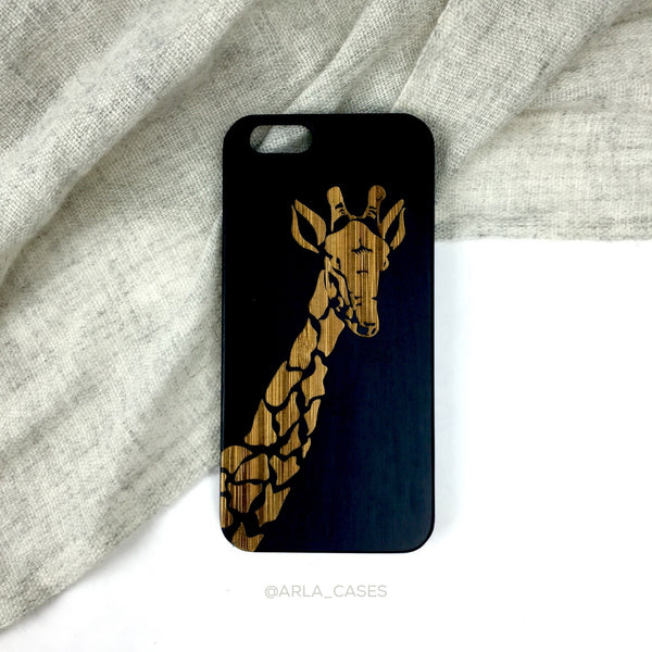 Wood Giraffe iPhone Case