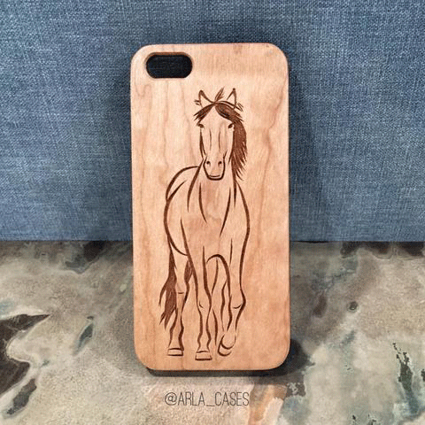 Horse Wood iPhone and Galaxy Phone Case