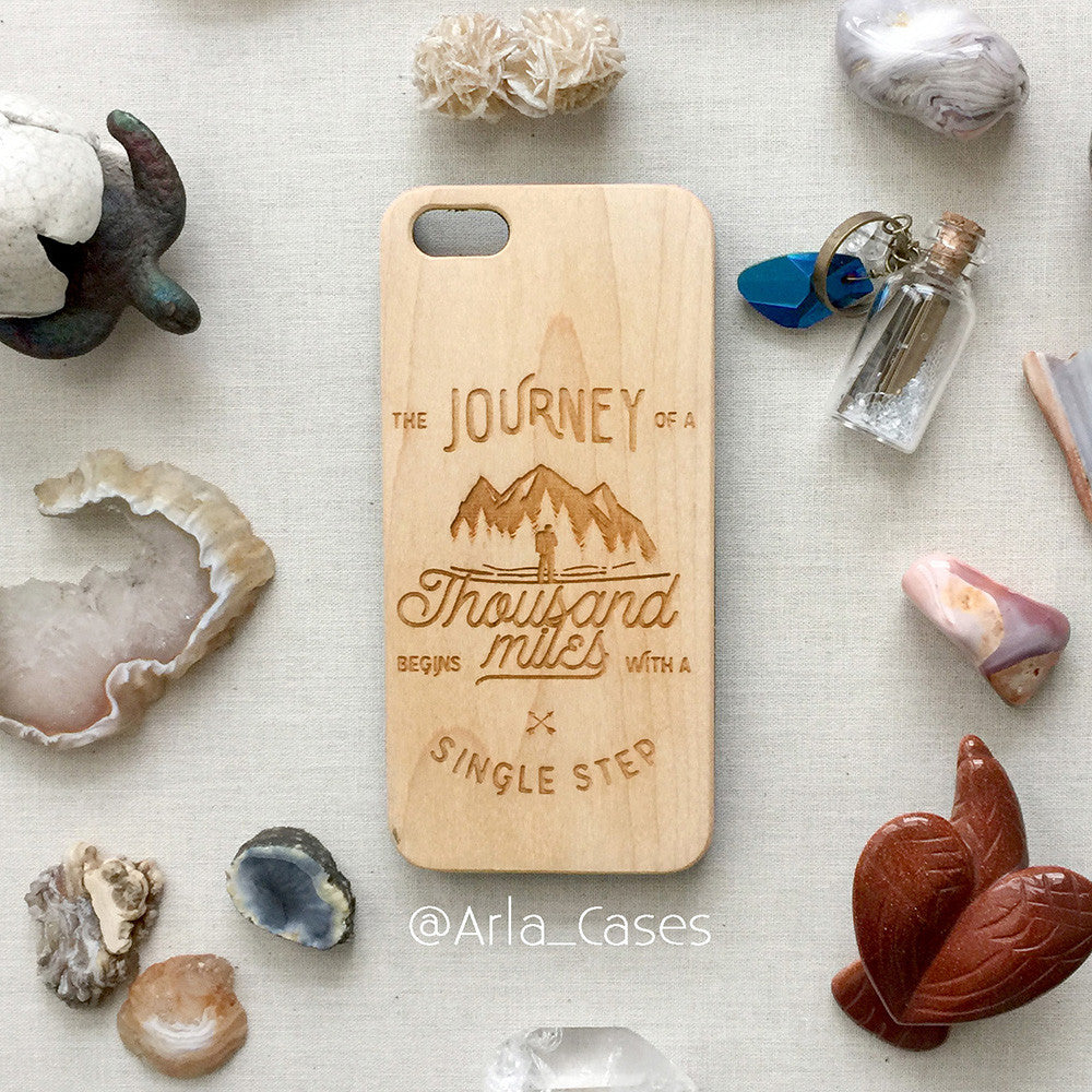 Journey Quote Wood iPhone and Galaxy Case