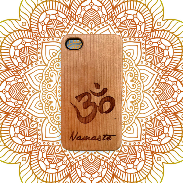 Om Namaste Wood iPhone Case