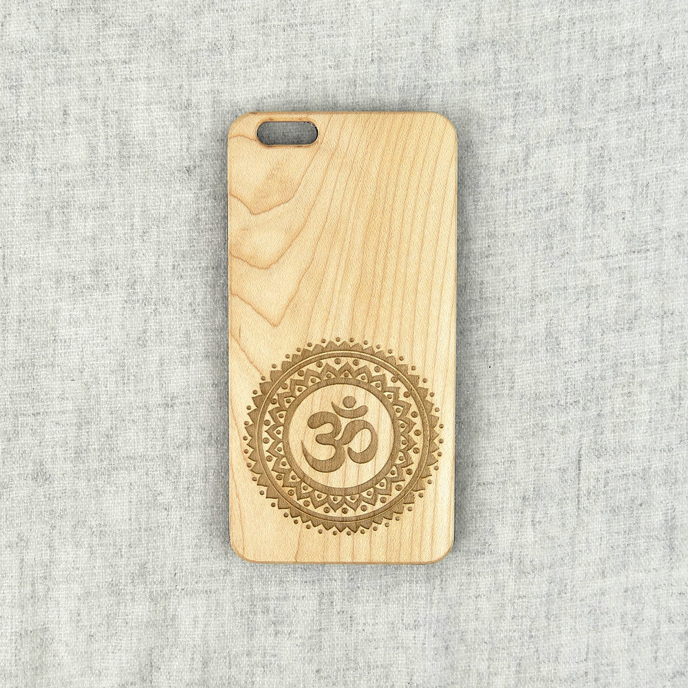 Om Mandala Wood iPhone Case  - Spiritual iPhone and Galaxy Case