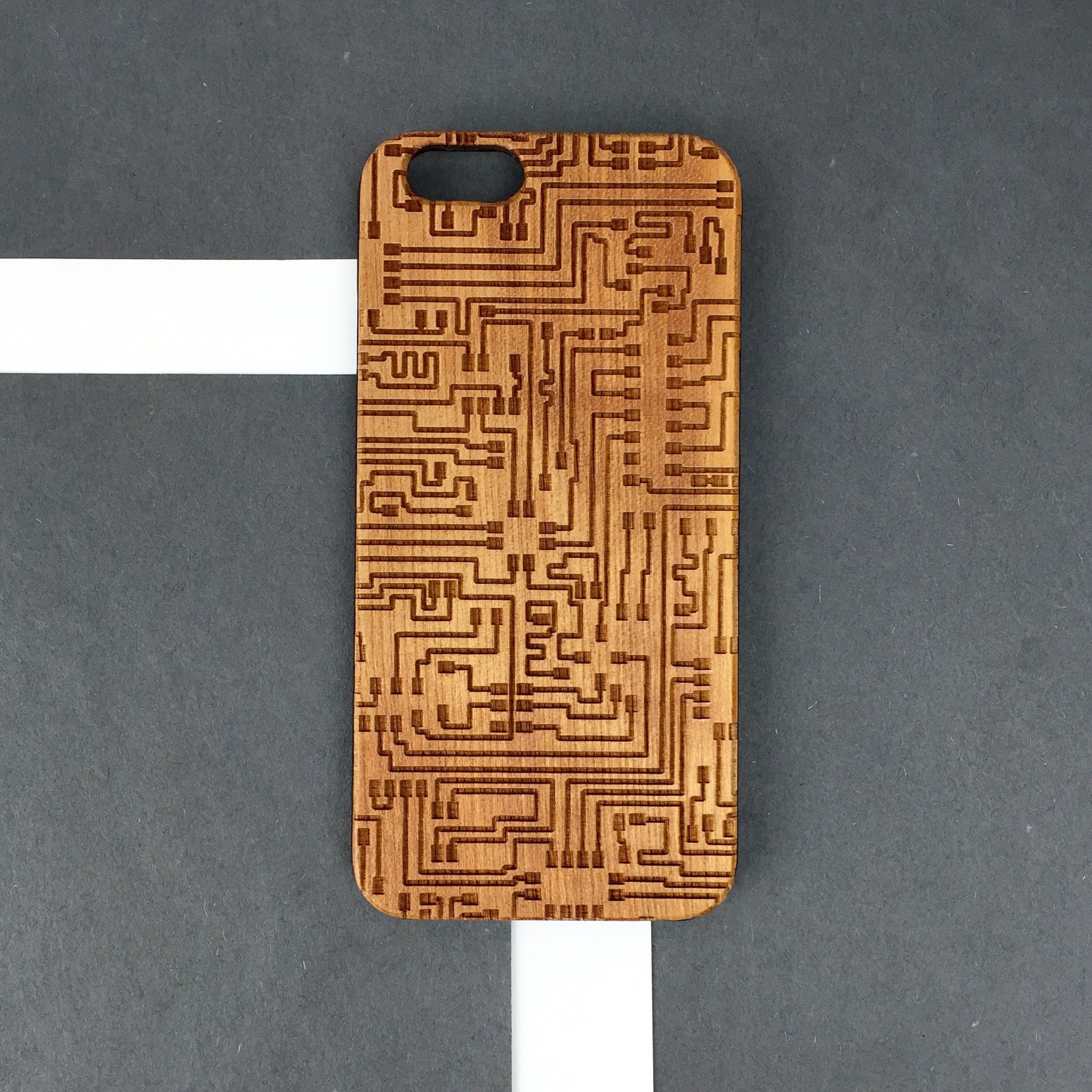 CPU pattern wood iphone case