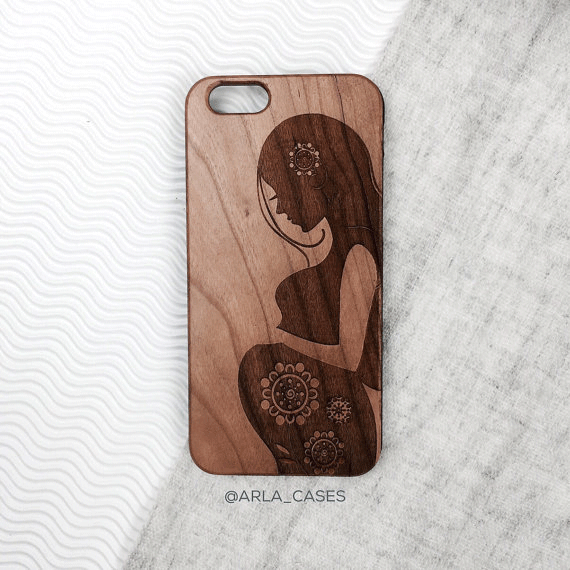 Mother to Be Wood iPhone and Galaxy Phone Case