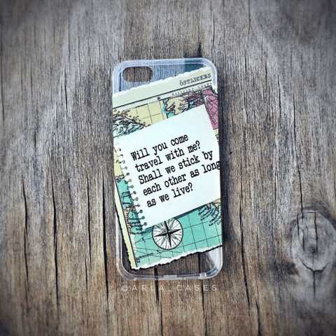 Walt Whitman Quote Clear iPhone and Galaxy Phone Case