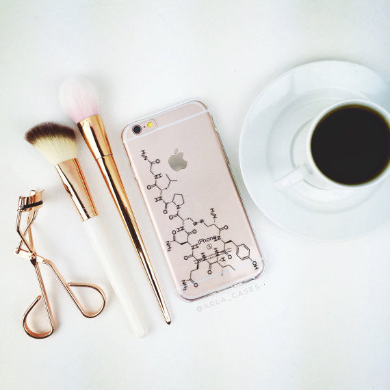 Oxytocin on Clear Printed iPhone Case