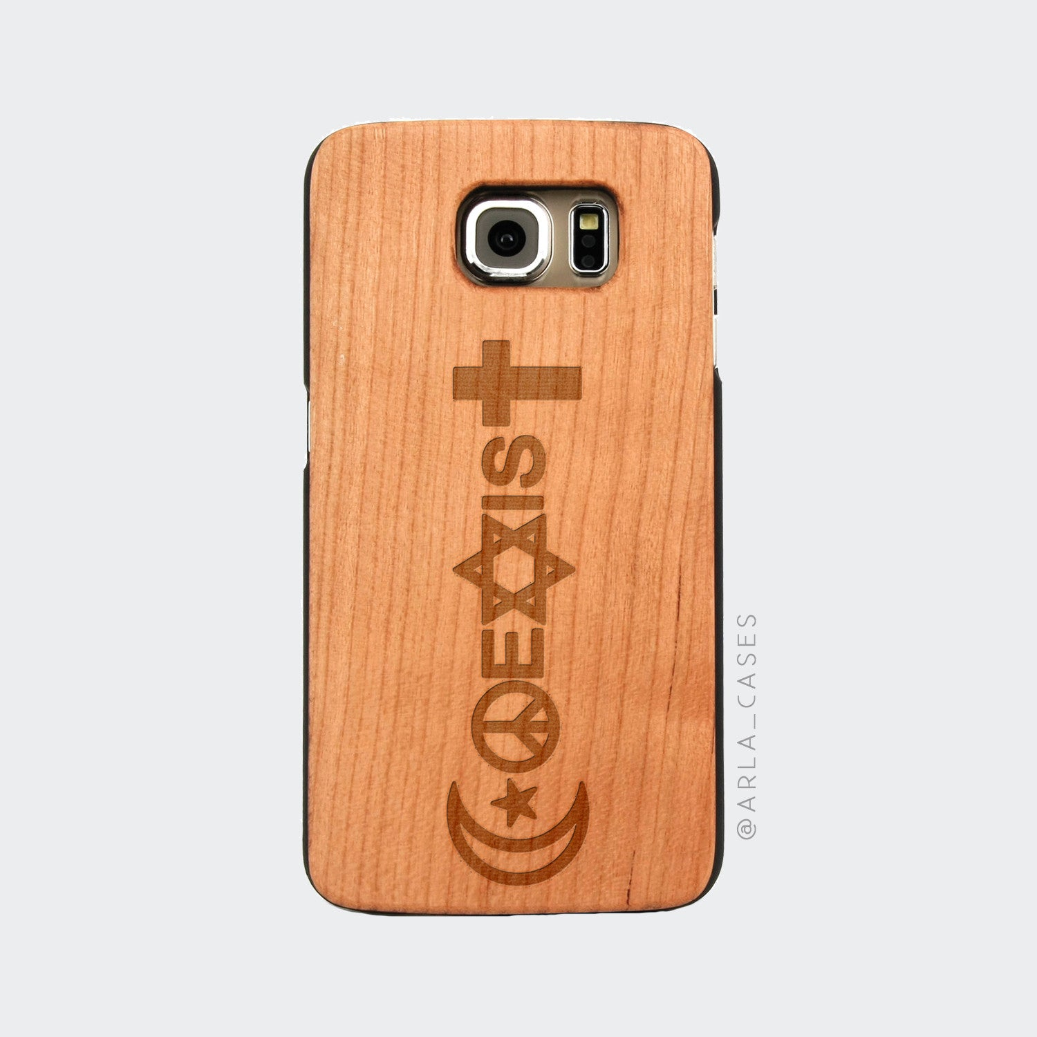 Coexist Wood Phone Case - World Peace iPhone and Galaxy Quote Case