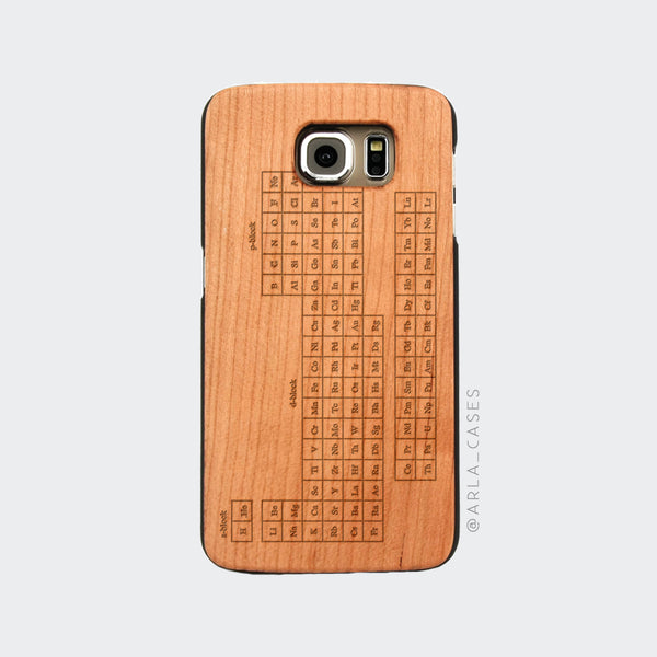 Periodic Table Engraved on Wood Galaxy Case