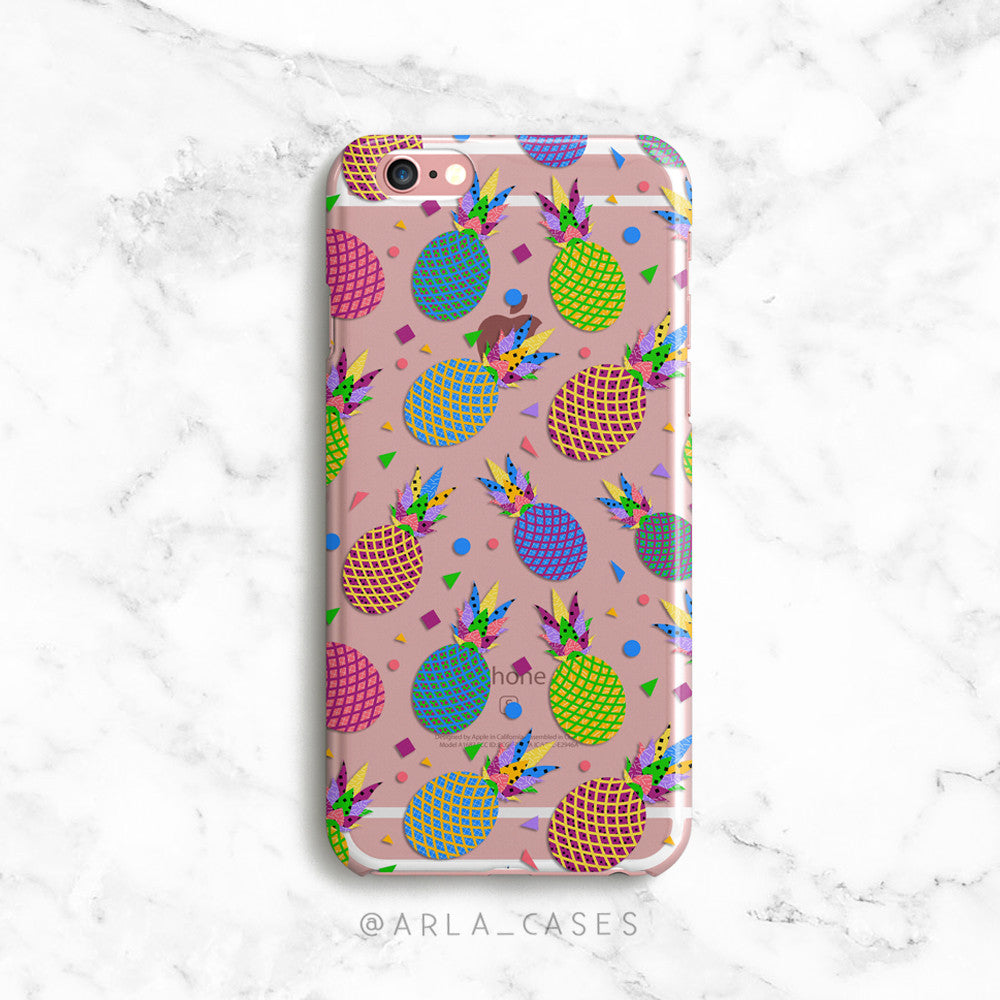 Pineapple Party on Clear Printed iPhone Case
