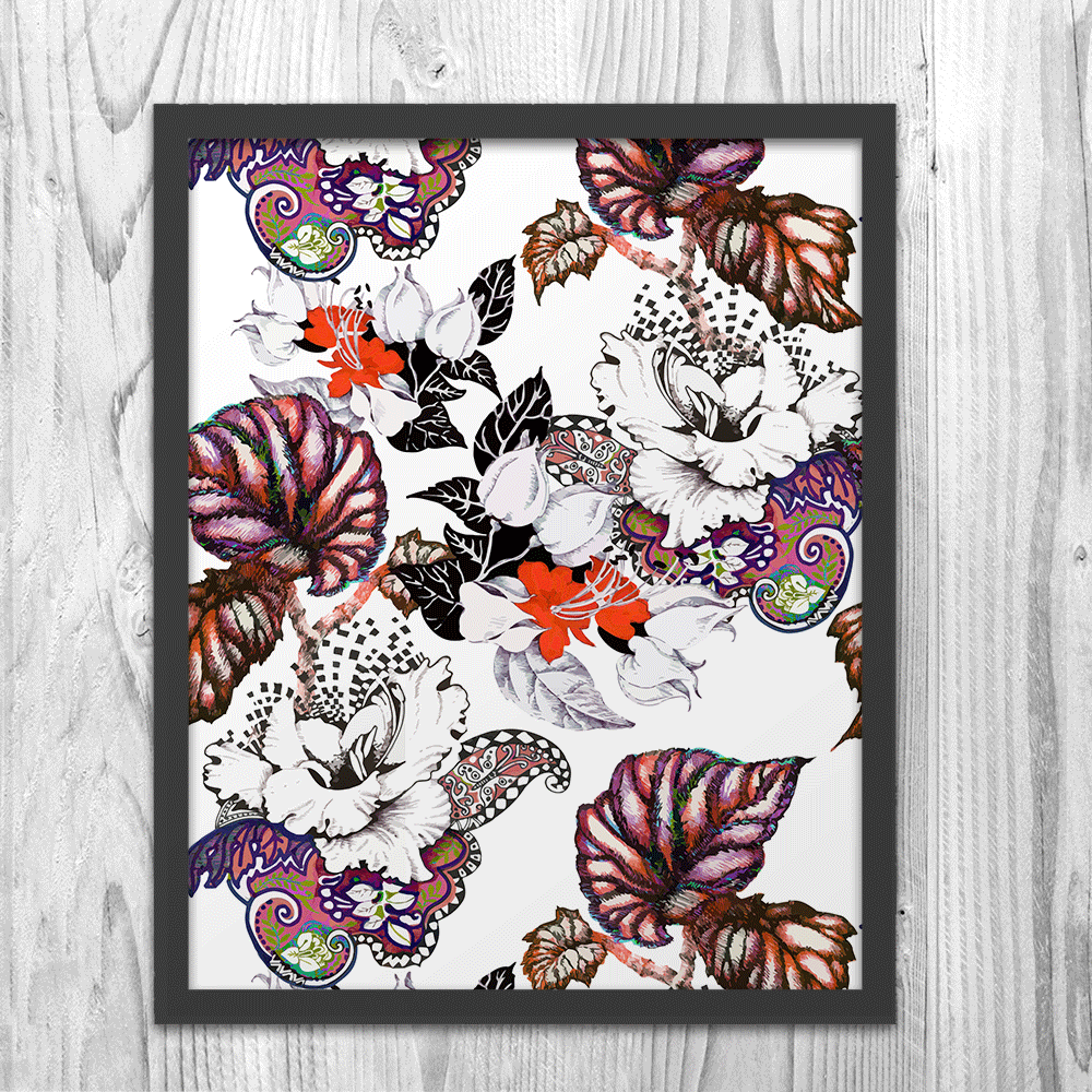 Abstract Floral Pattern - Art Print