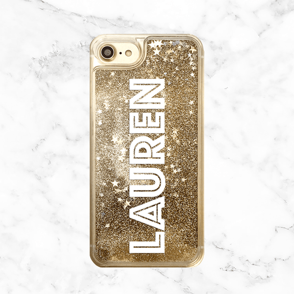 Custom Name Gold Glitter Phone Case