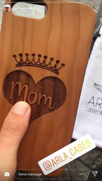 Mom is Queen! Wood Mom Phone Case