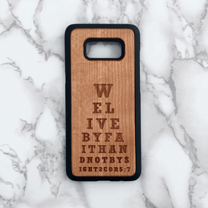 Bible Verse Wood Phone Case