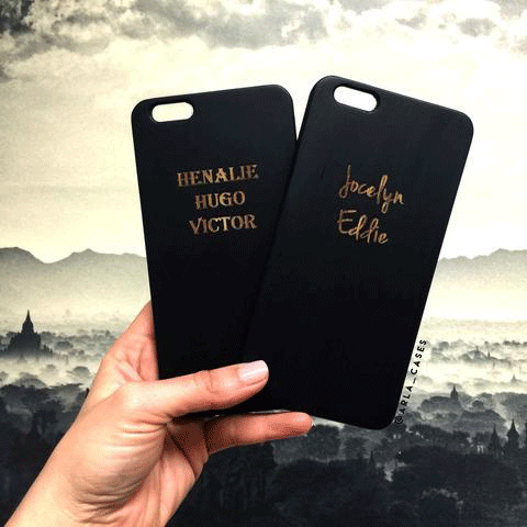 Custom Names Black iPhone and Galaxy Phone Case