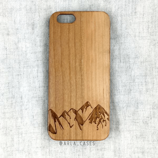 Mountains Wood iPhone and Galaxy Phone Case