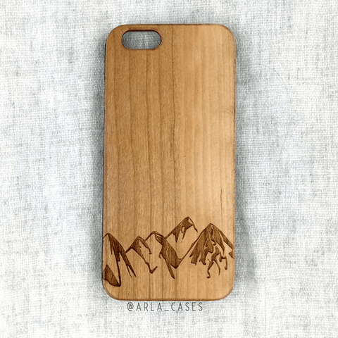 Ocean Wave Wooden Phone Case for iPhone and Galaxy - Summer Wood Phone Case