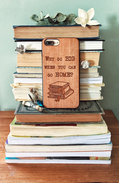 Home to my Books - Wood Phone Case