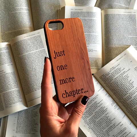 Coffee and Books Quote - iPhone and Galaxy Wood Phone Case