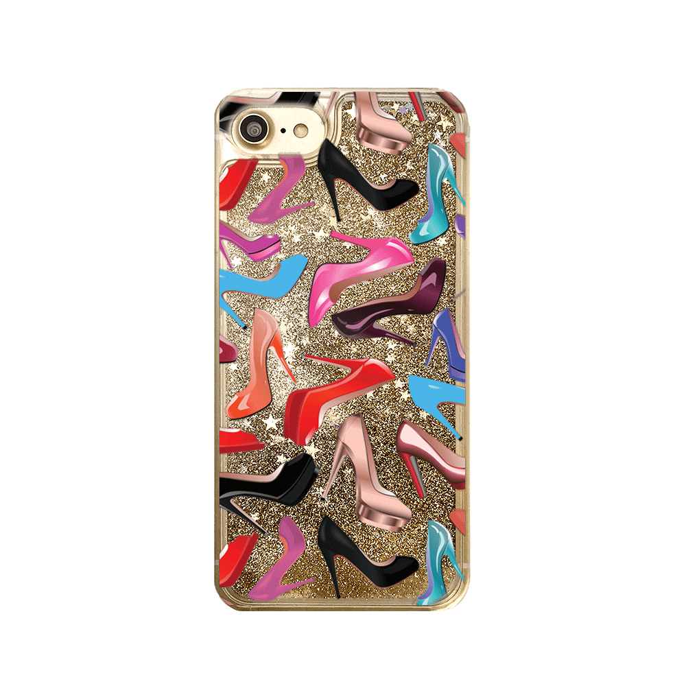 High Heels Gold Glitter iPhone Case
