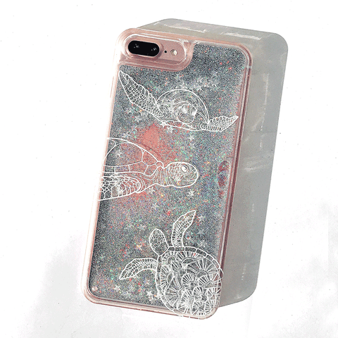 Turtle Glitter Phone Case