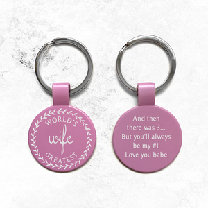 World's Greatest Wife Engraved Keychain