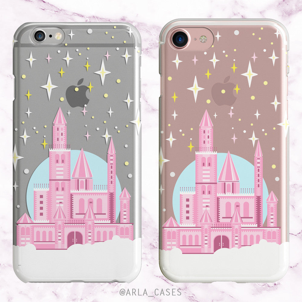 Princess Castle - Clear TPU Phone Case with Design