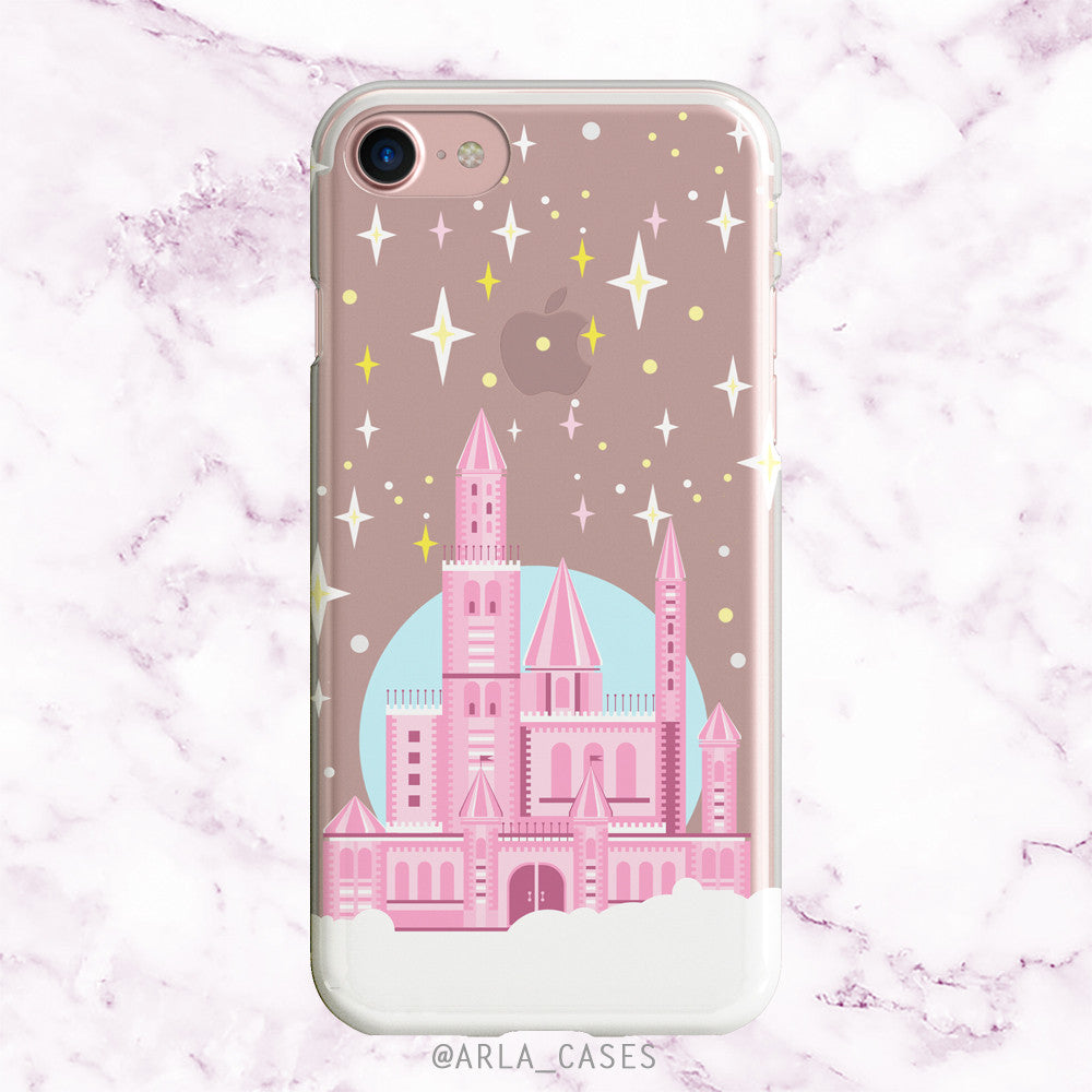Princess Castle on Clear Printed iPhone Case