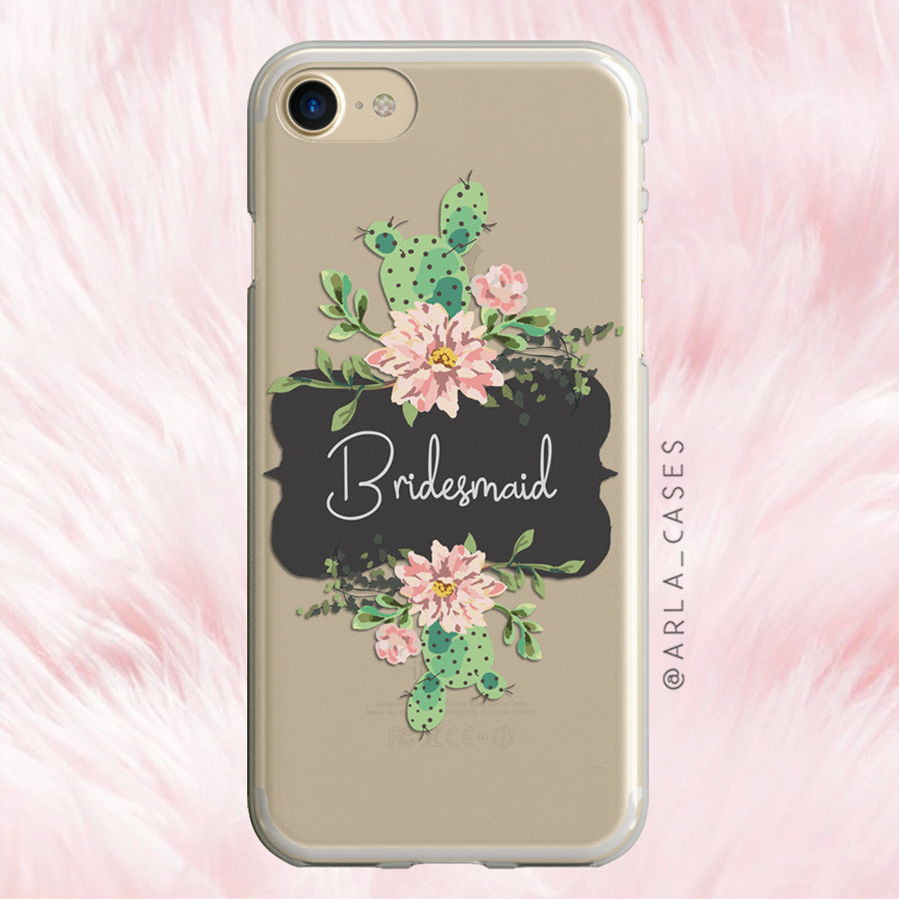 Bridesmaid Cactus iPhone Case