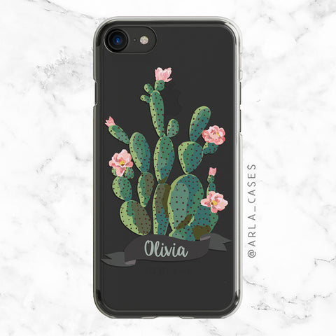 White Magnolia Phone Case - Clear Printed TPU