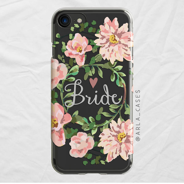 Bride Floral Wreath iPhone Case