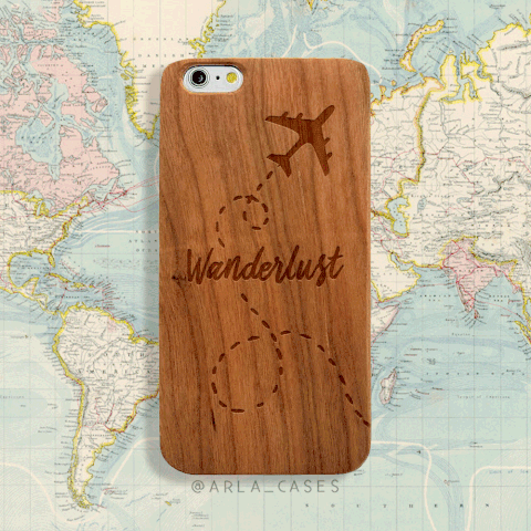 Wanderlust Wood iphone and Galaxy Phone Case
