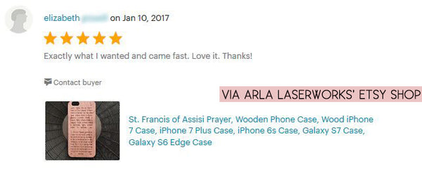 St. Francis of Assisi Prayer -  Wood iPhone Case with Prayer - Lord, let me be an instrument of thy peace...
