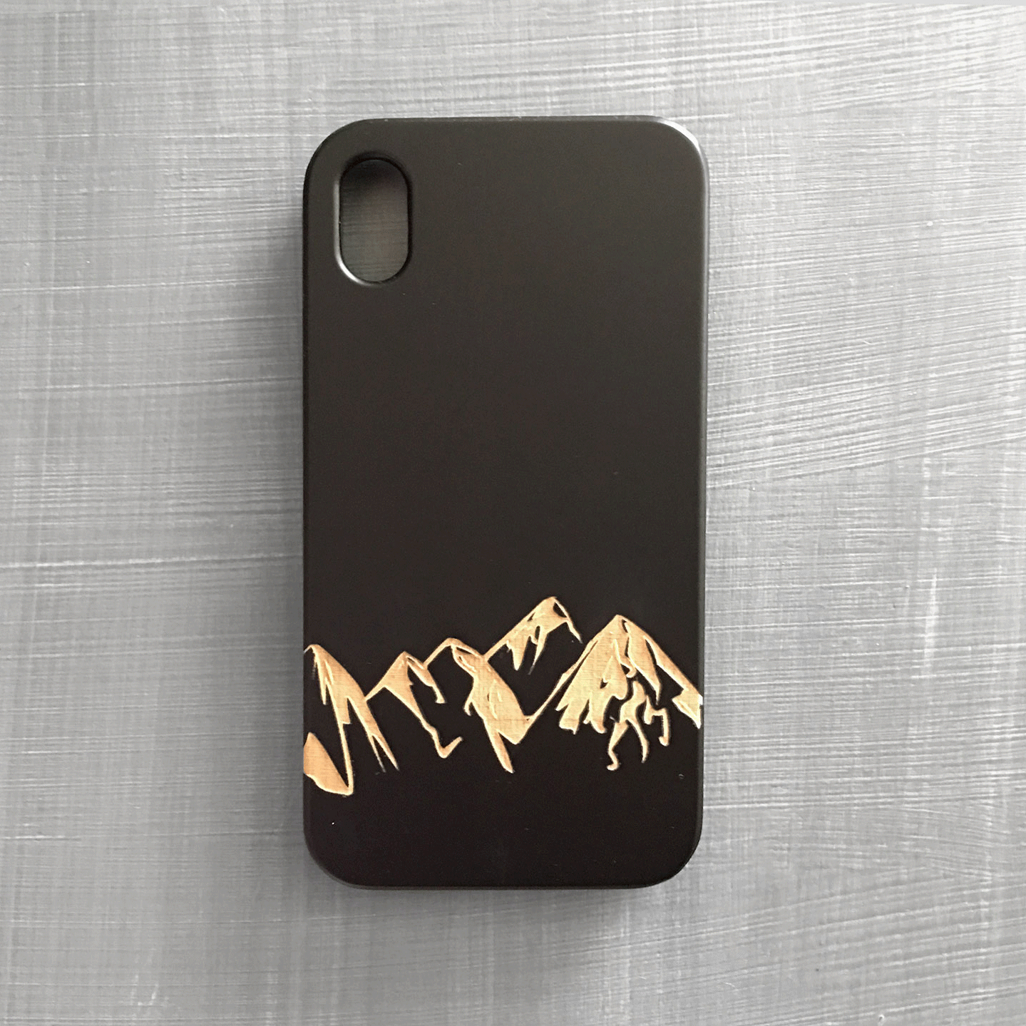 Mountain Range Phone Case Engraved onto Wooden Phone Case for iPhone and Samsung Galaxy