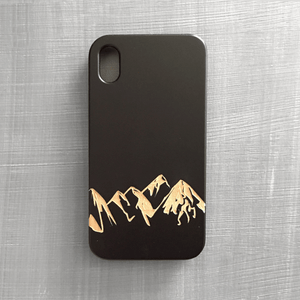 Mountain Range Wood Phone Case