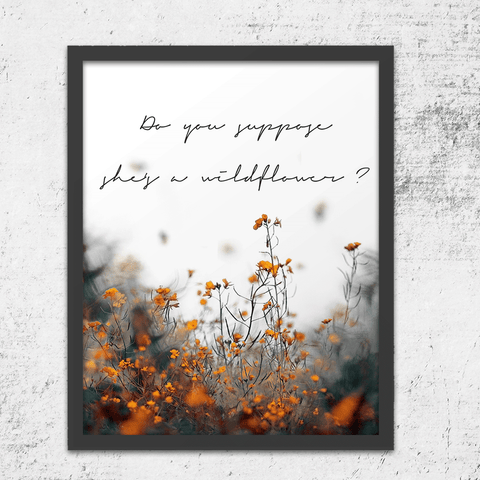Alice In Wonderland Wildflower Art Print
