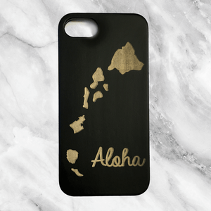 Hawaiian Islands Wood Phone Case