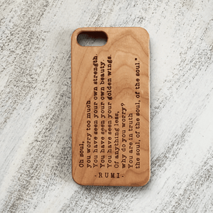 Rumi Soul Quote Phone Case