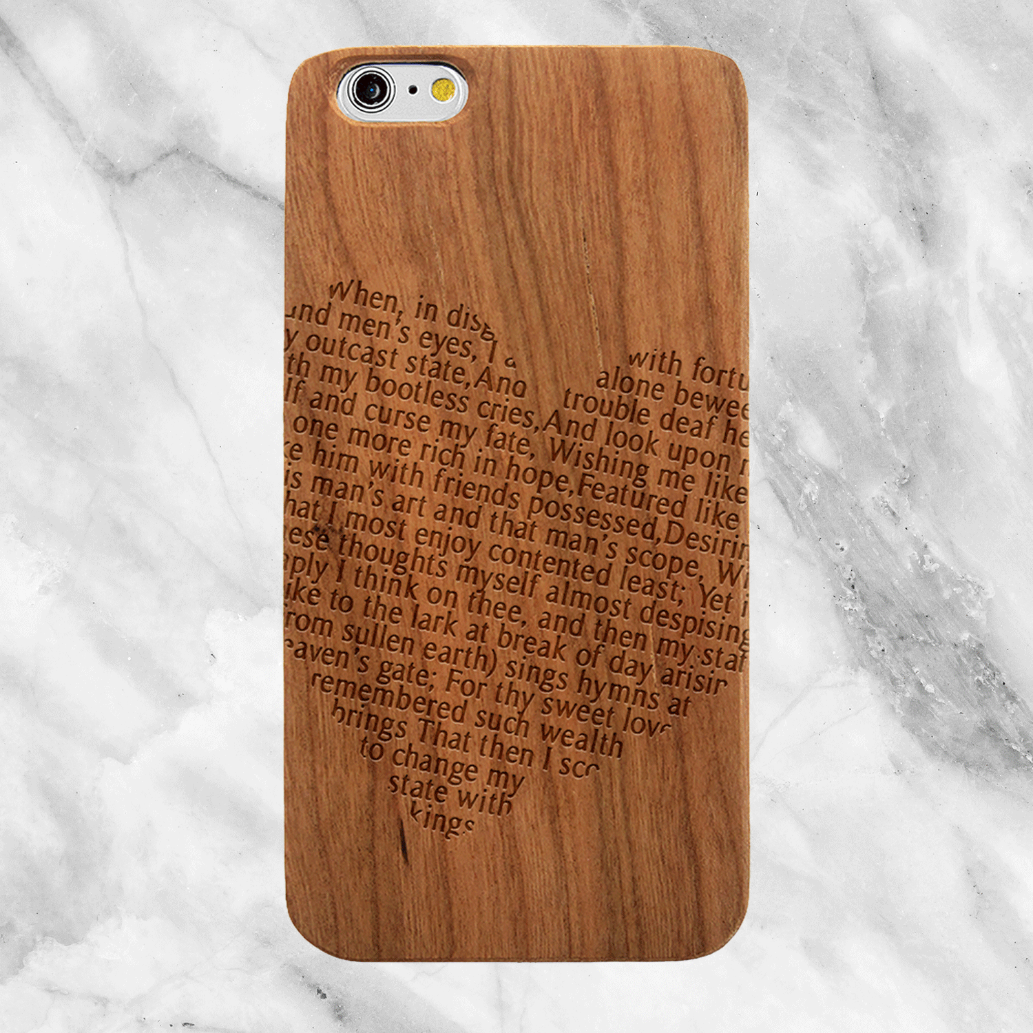 Shakespeare Sonnet 29 - Wood Phone Case
