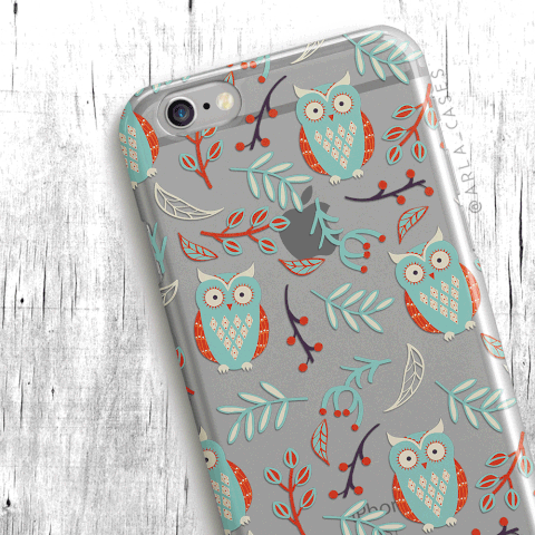 Owl Clear iPhone and Galaxy Phone Case