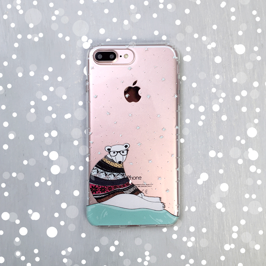 Polar Bear Clear Phone Case