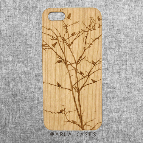 Bird Tree Wood iPhone and Galaxy Phone Case