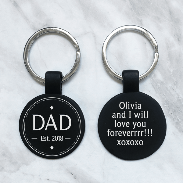 Custom Dad Keychain