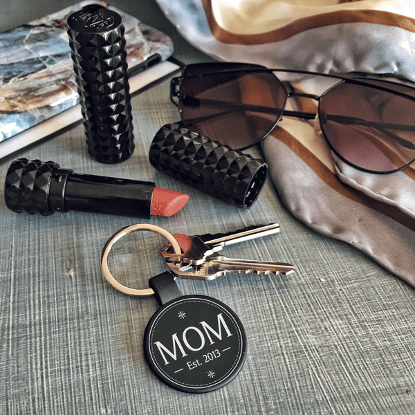 Official Mom Custom Keychain