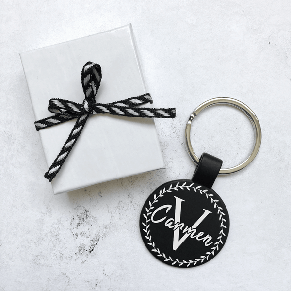 Laurel Monogram Keychain - Personalize
